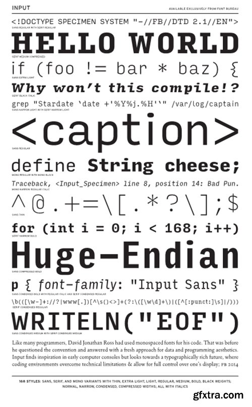 Input Font Family - 168 Font $840