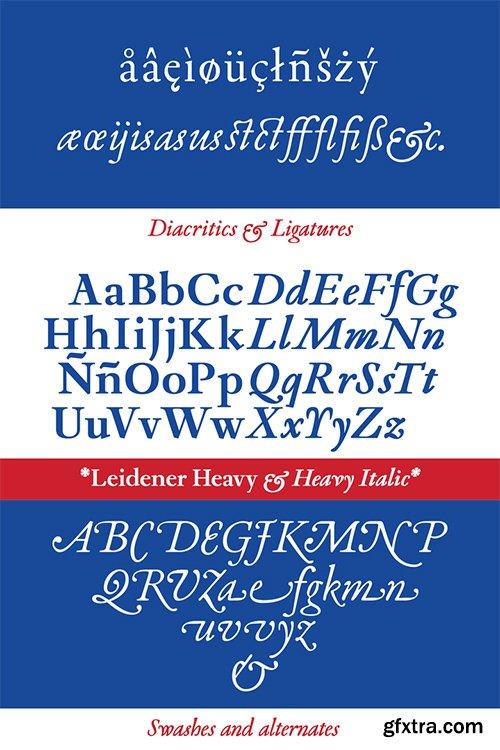 Leidener Font Family - 6 Font $240