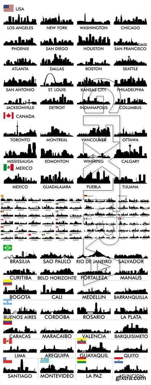 Cities Skyline Vector