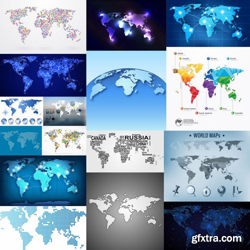 World Map - 25 Vector