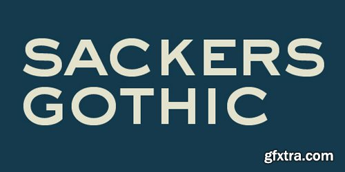 Sackers Gothic Font Family - 4 Fonts for $116
