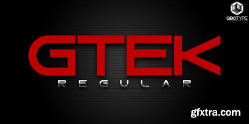 Gtek Regular Font for $22
