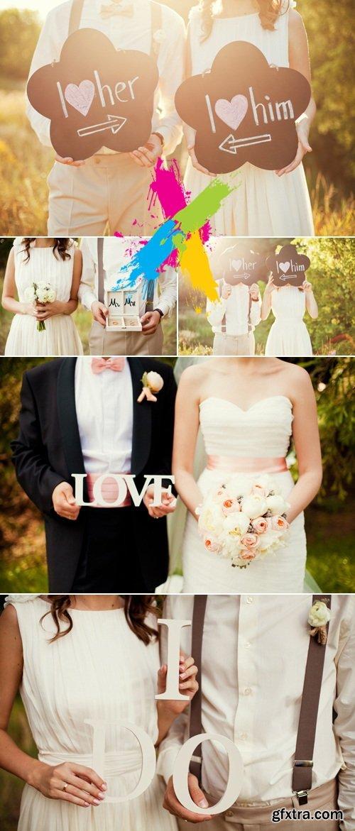 Stock Photo - Romantic Bride & Groom