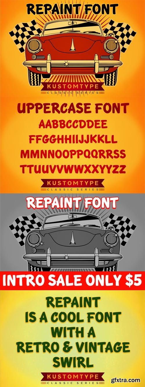 Repaint and Repair Font
