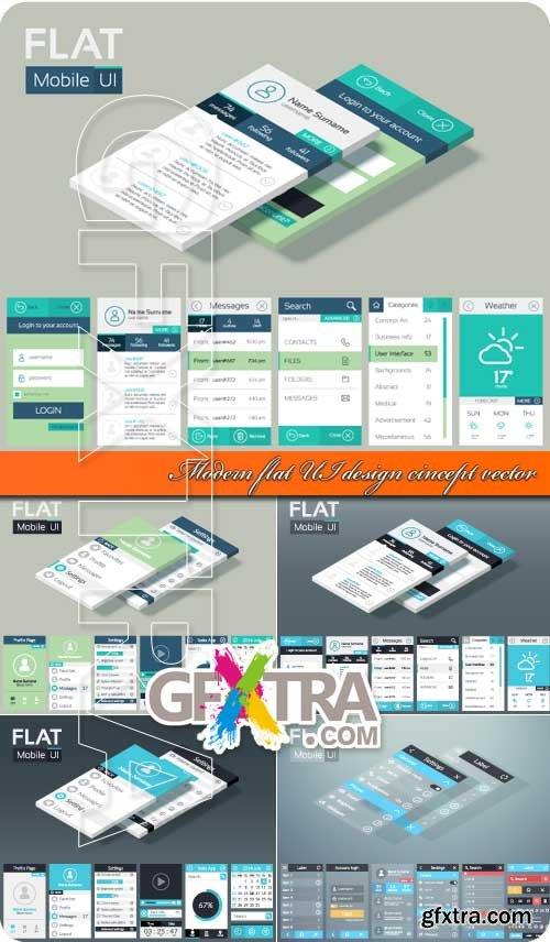 Modern flat UI design cincept vector