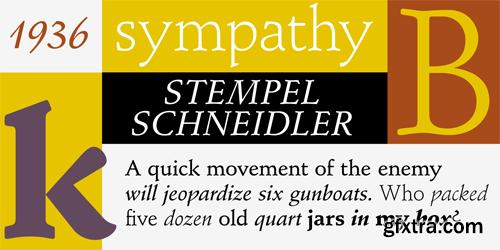 Stempel Schneidler Font Family - 10 Fonts for $232