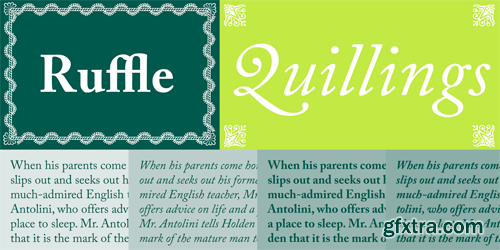 Adobe Caslon Pro Font Family - 6 Fonts for $178