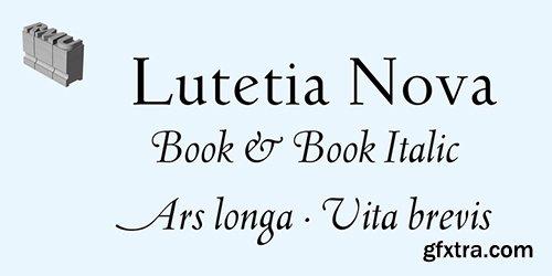 Lutetia Nova Font Family - 2 Fonts $68