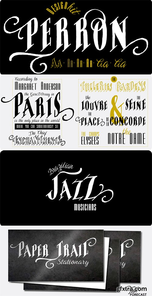 Perron Font Family - 7 Fonts $69