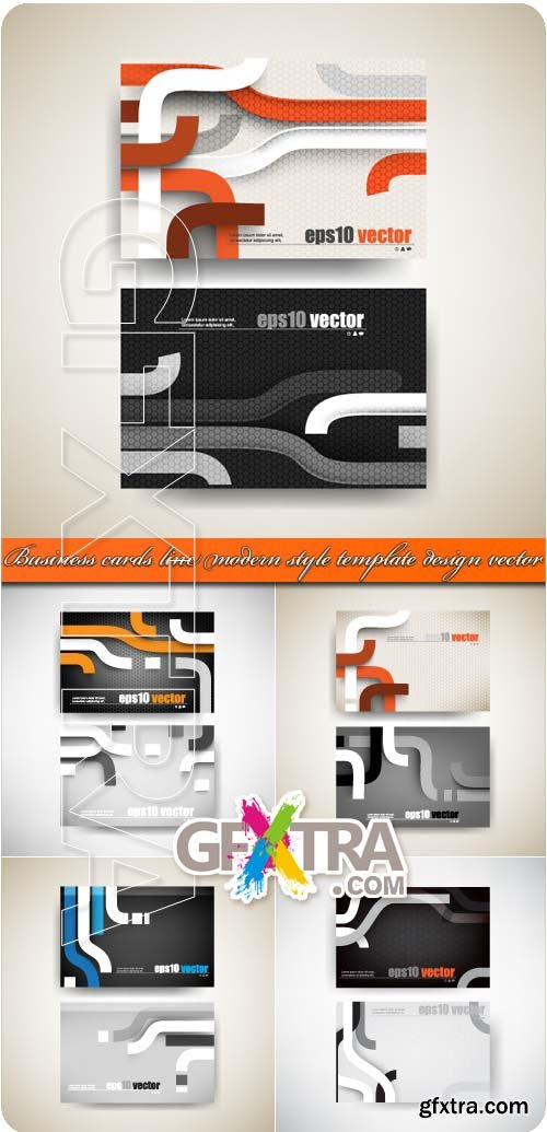 Business cards line modern style template design vector