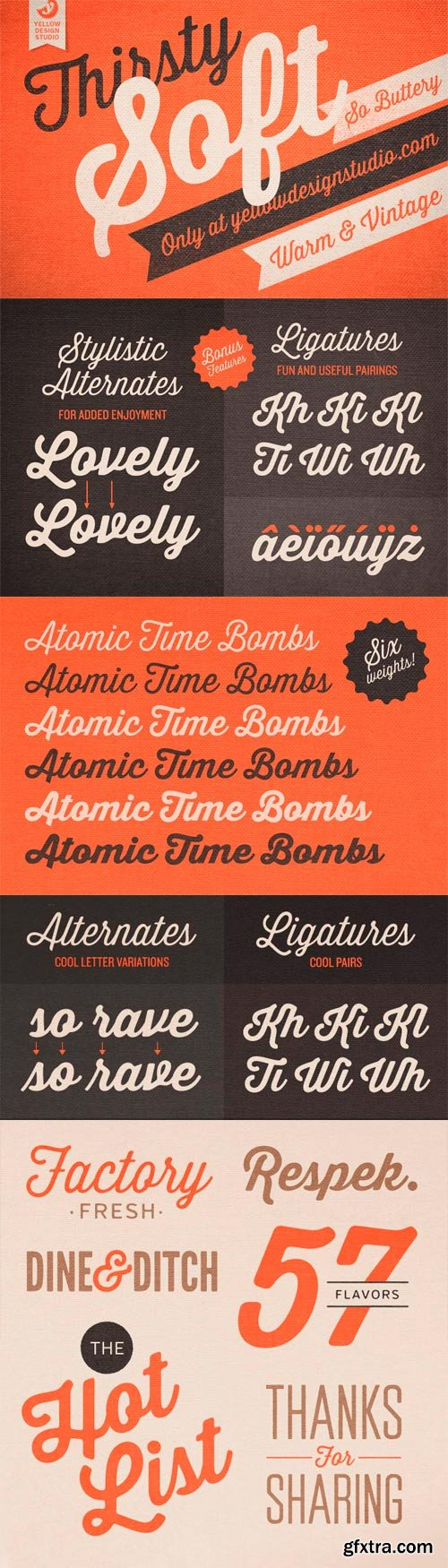 Thirsty Soft Font Family - 6 Fonts for $49