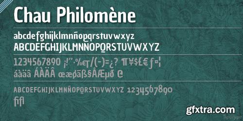 Chau Philomne Font Family - 2 Fonts for $20