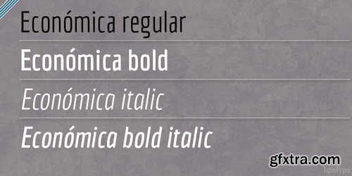 Economica Font Family - 4 Fonts for $60