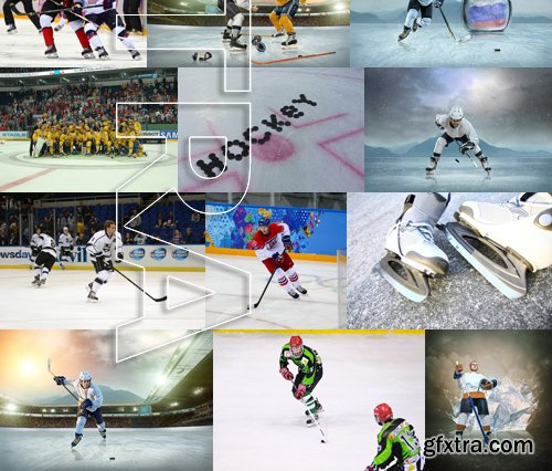 Stock Photos - Hockey 2, 25xJPG