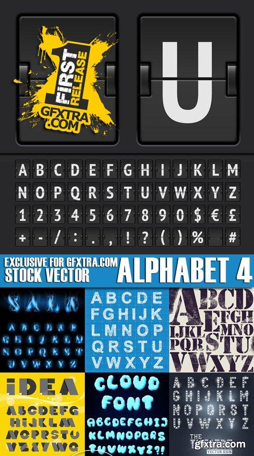 Stock Vectors - Alphabet 4, 25xEPS