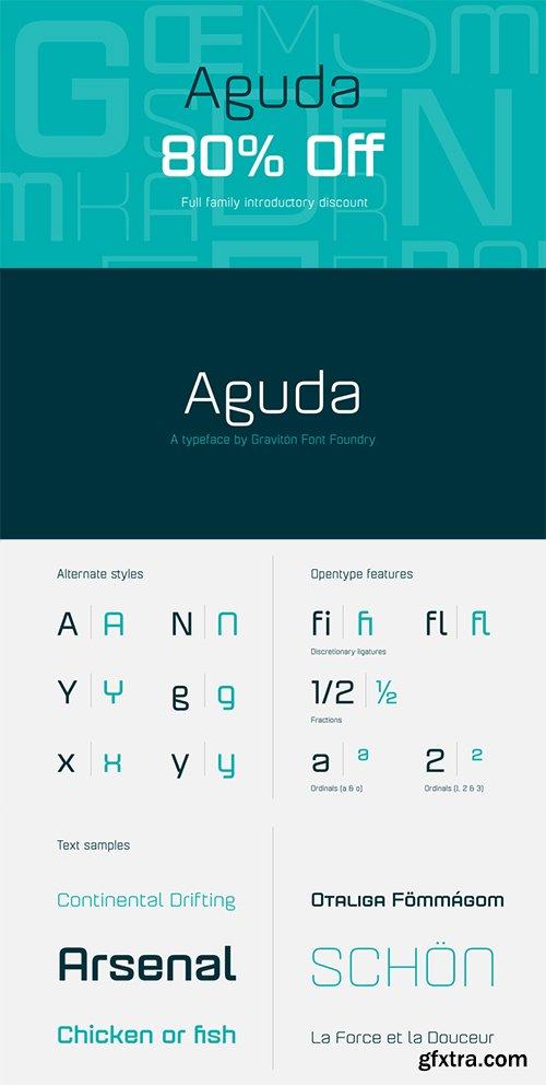 Aguda Font Family - 4 Fonts 20$