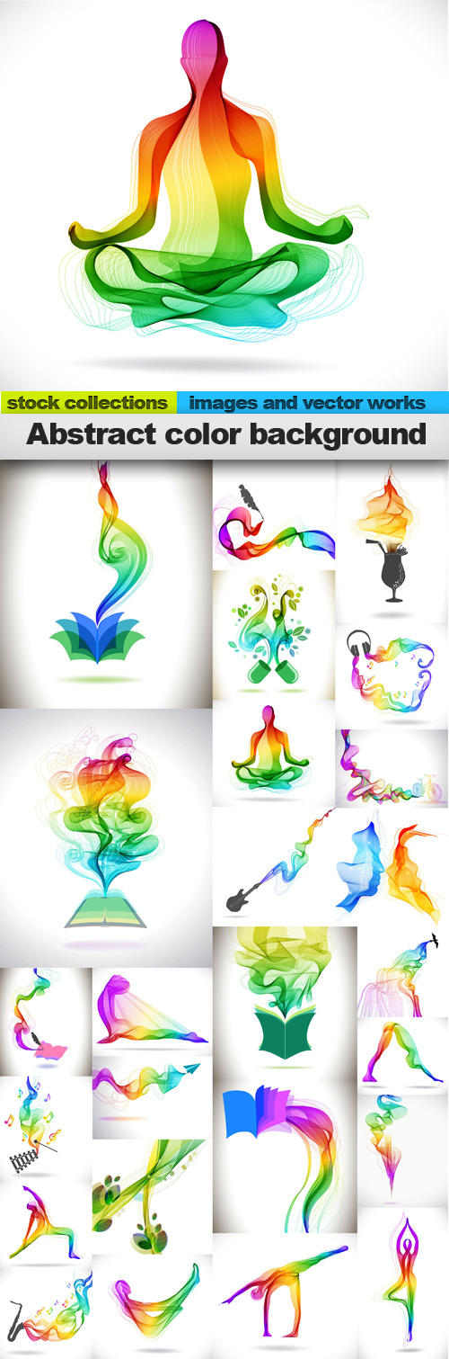 Abstract color background,25 x EPS