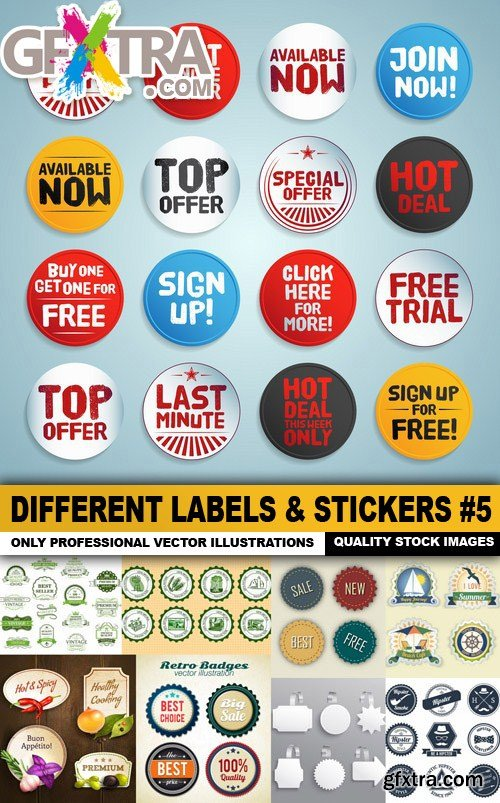Different Labels & Stickers #5 - 25 Vector