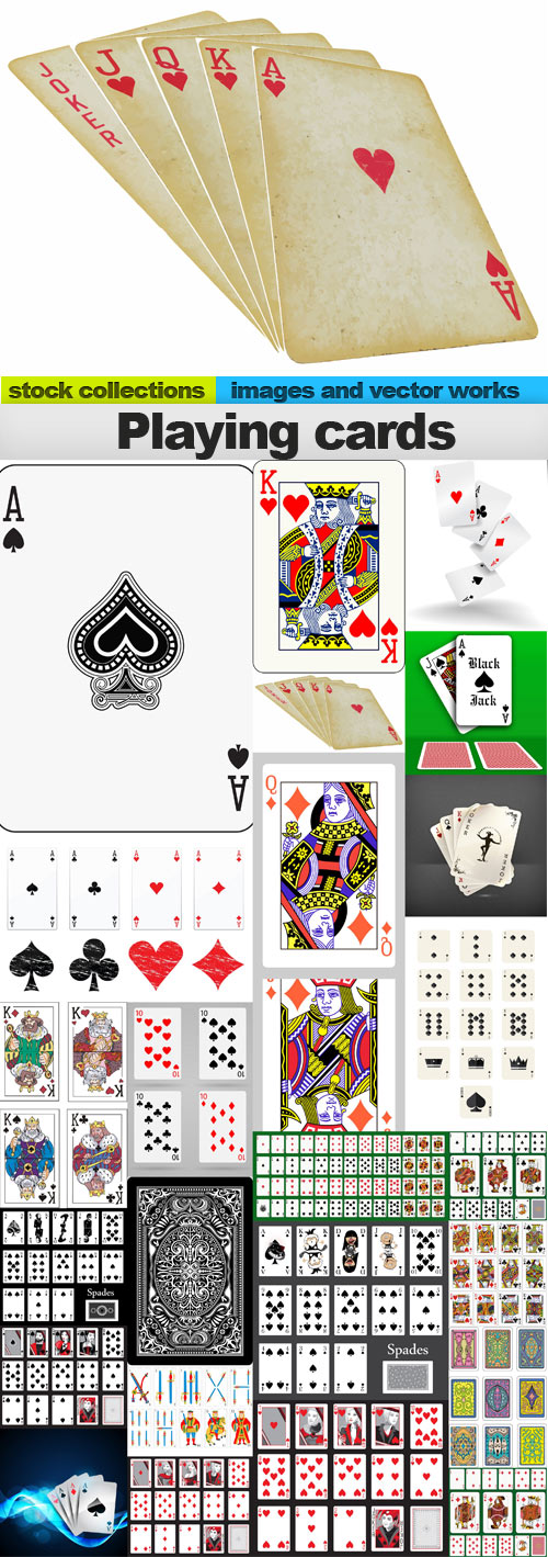 Playing cards,25 x EPS