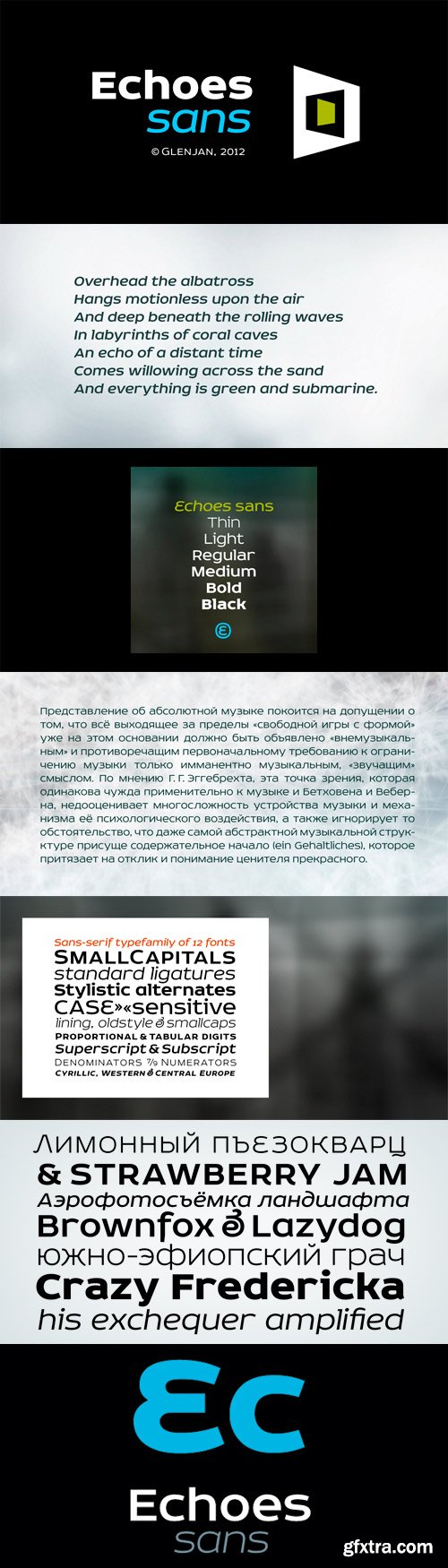 Echoes Sans Font Family - 12 Fonts for $300