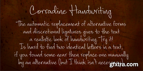 Corradine Handwriting Font Family - 2 Fonts for $38