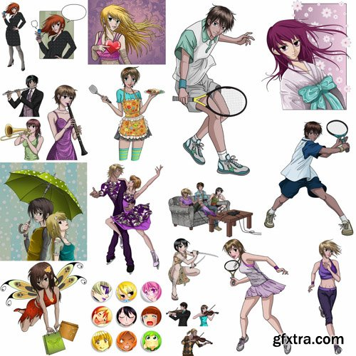 Cartoon People #2  - 25 Vector