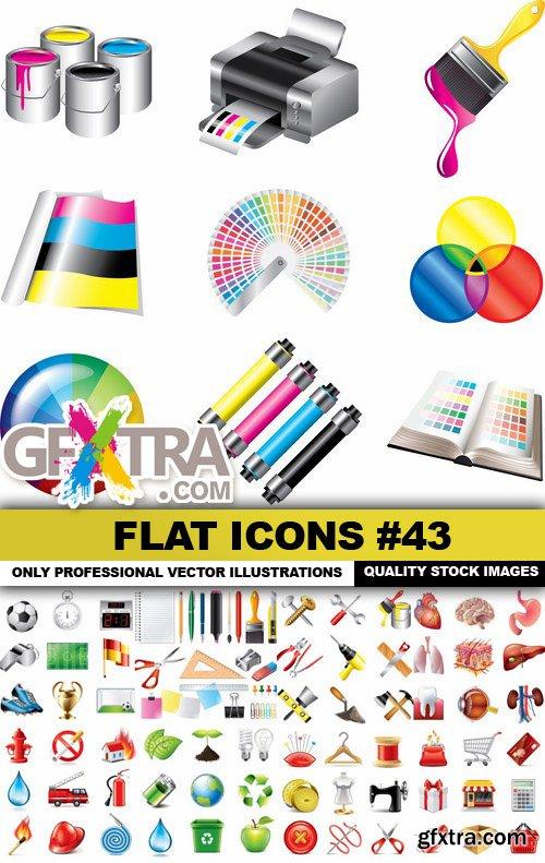Flat Icons #43 - 25 Vectors