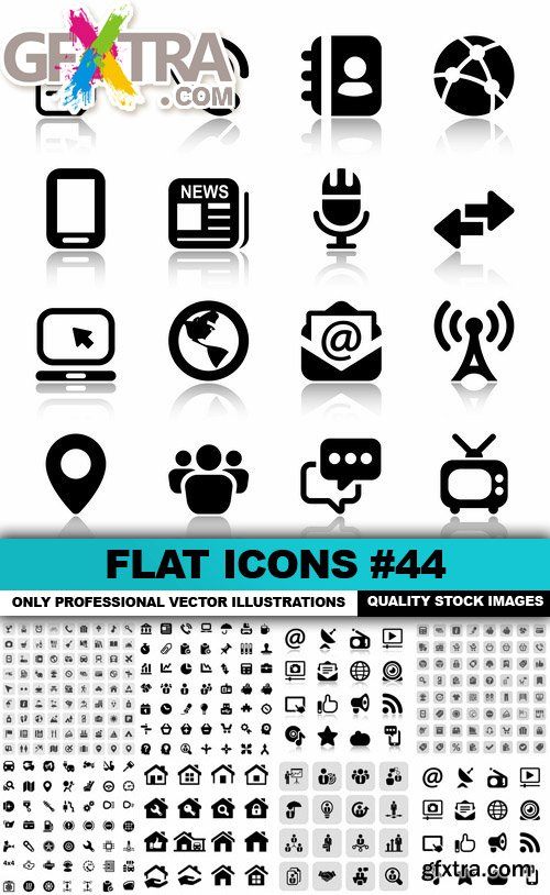 Flat Icons #44 - 25 Vectors