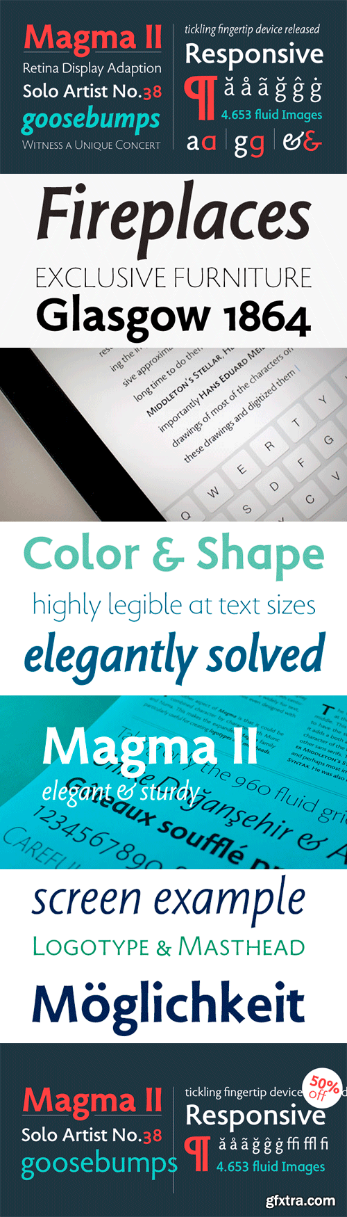 Magma II Font Family - 9 Fonts for $199