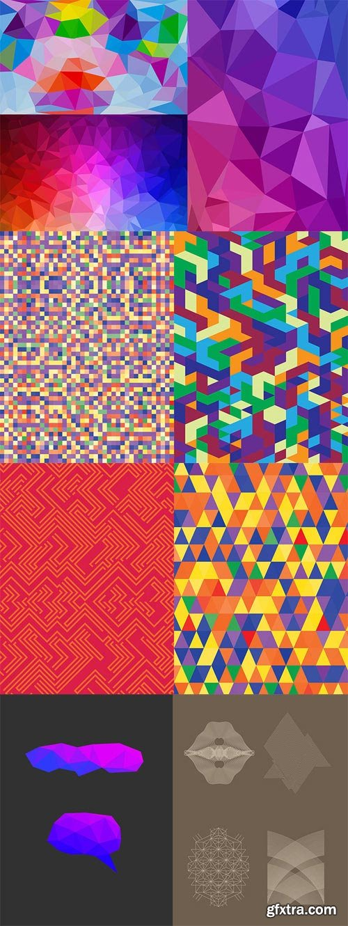 13 Geometric Backgrounds and Shapes