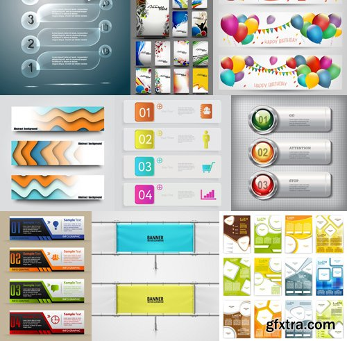 Stock Vectors - Business Banners 2, 25xEPS