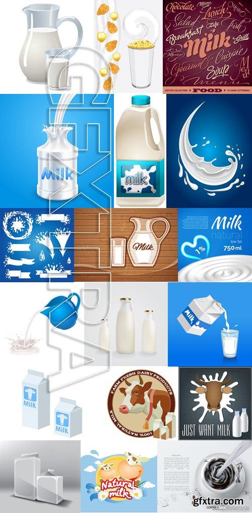 Stock Vectors - Milk 4, 25xEPS