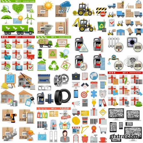Icons Collection #6 - 50 Vector