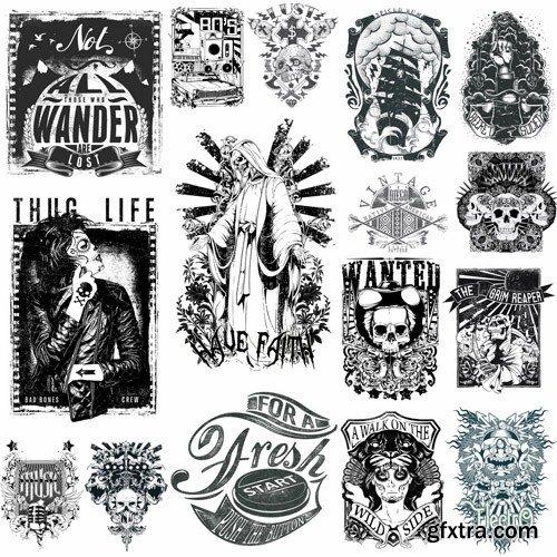 T-Shirt Design #28 - 25xEPS
