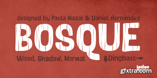 Bosque Font Family - 6 Fonts for $89