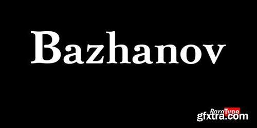 Bazhanov Font Family - 3 Fonts for $81
