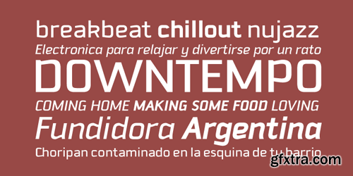 Downtempo Font Family - 6 Fonts for $59