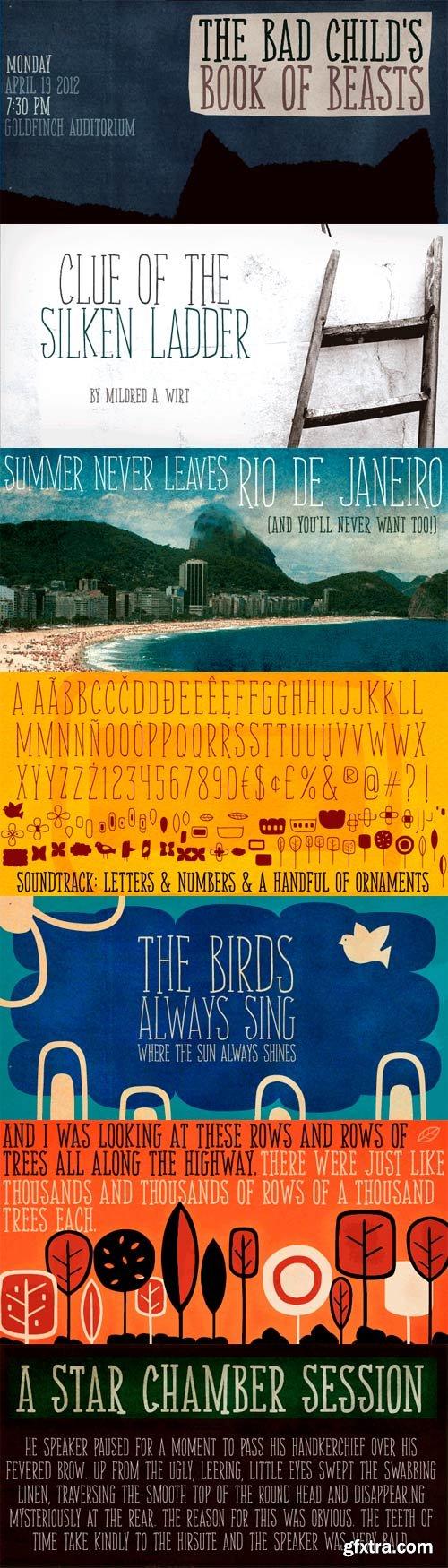 Soundtrack Font Family - 2 Fonts for $34