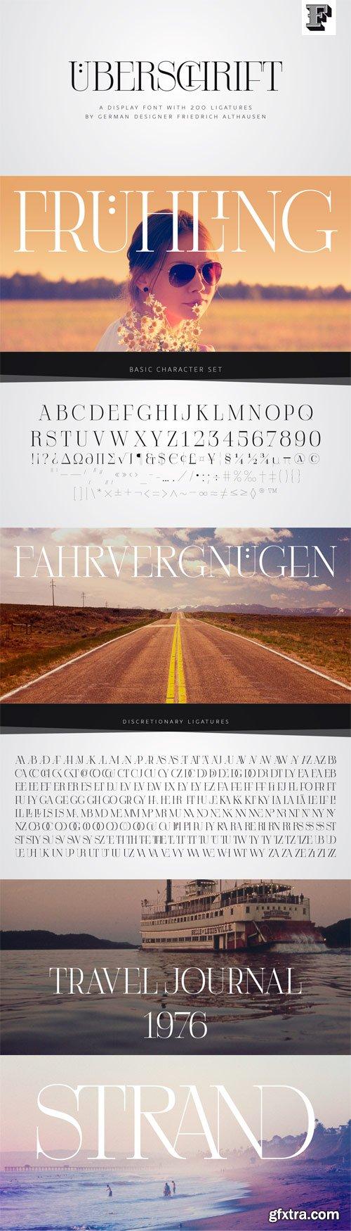 Uberschrift Font for $25
