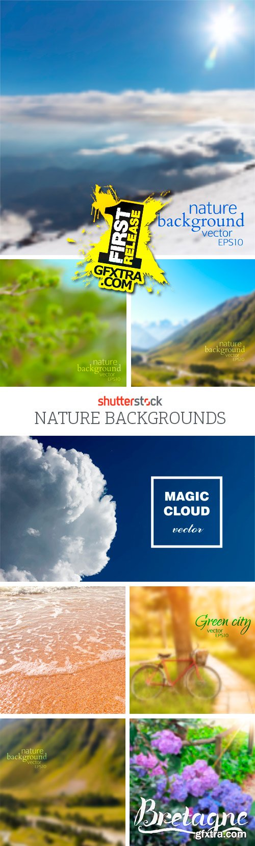 Amazing SS - Nature Backgrounds, 25xEPS