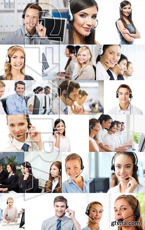 Stock Photos - Customer support operator 5, 25xJPG