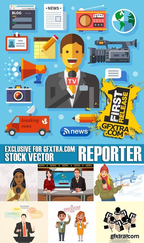 Stock Vectors - Reporter, 25xEPS