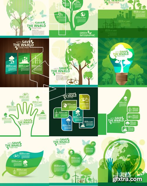 Stock Vectors - Save the world, 25xEPS