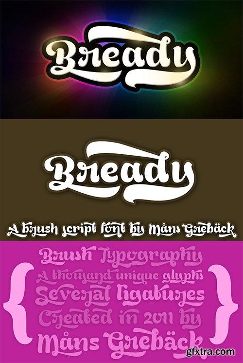 Bready Font - 4 Font 295$