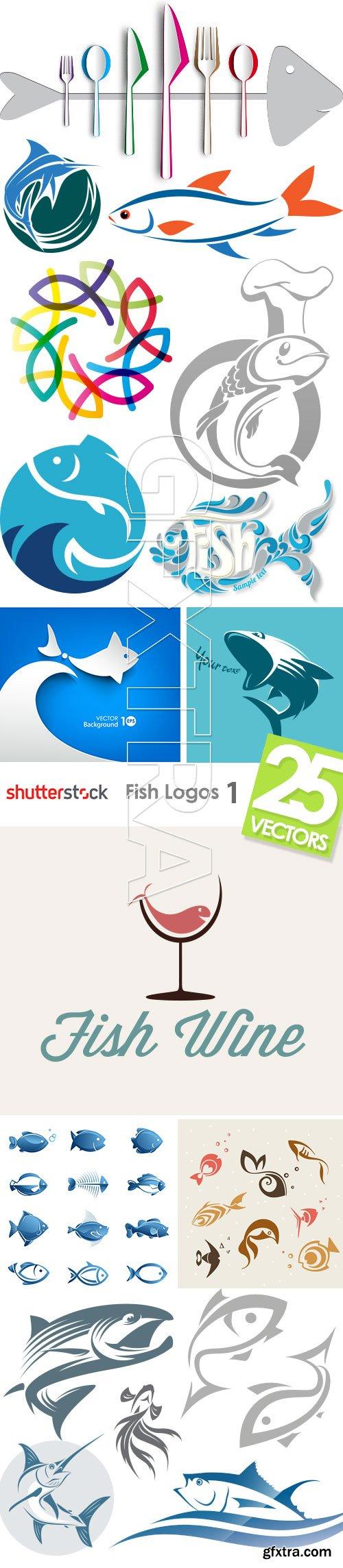 Fish Logos 1, 25xEPS