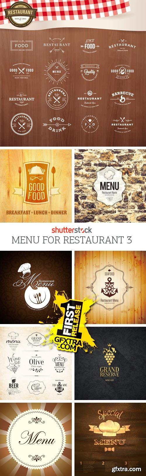 Amazing SS - Menu for Restaurant 3, 25xEPS