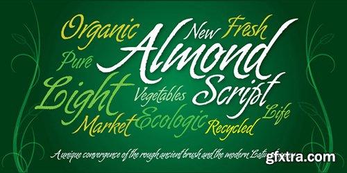 Almond Script Font - 1 Font 79$