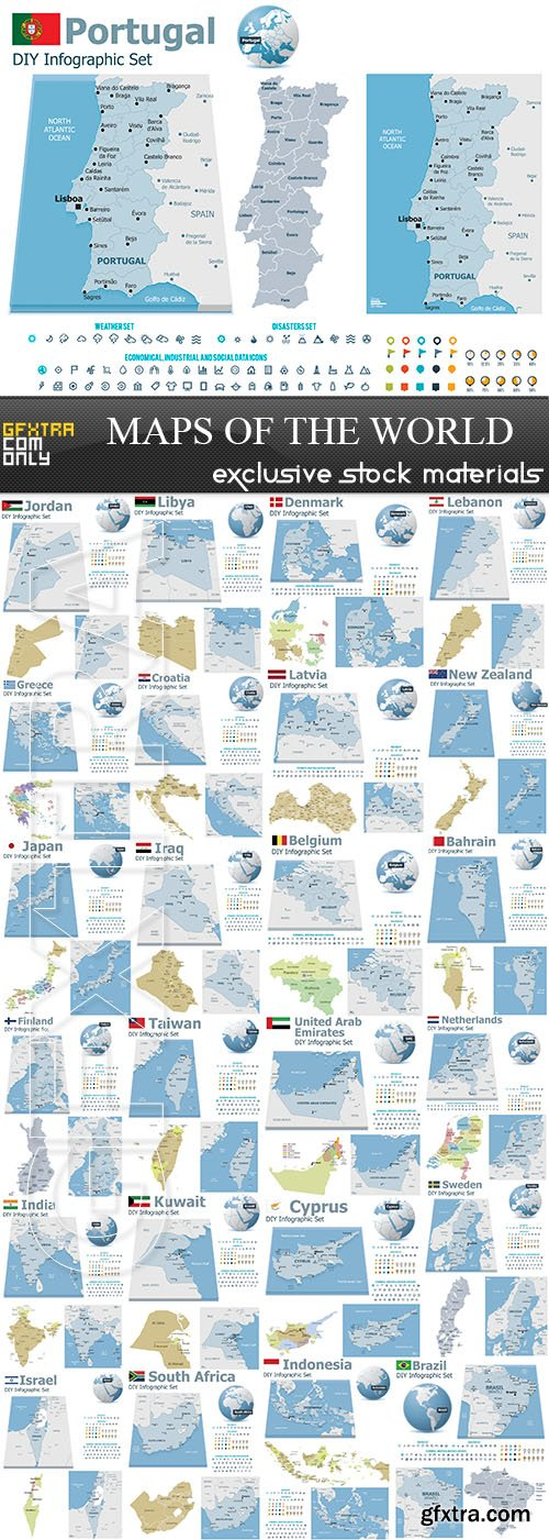 World maps and infographics 2 25xeps vector photoshop psdafter world maps and infographics 2 25xeps vector photoshop psdafter effects tutorials template 3d gumiabroncs Choice Image