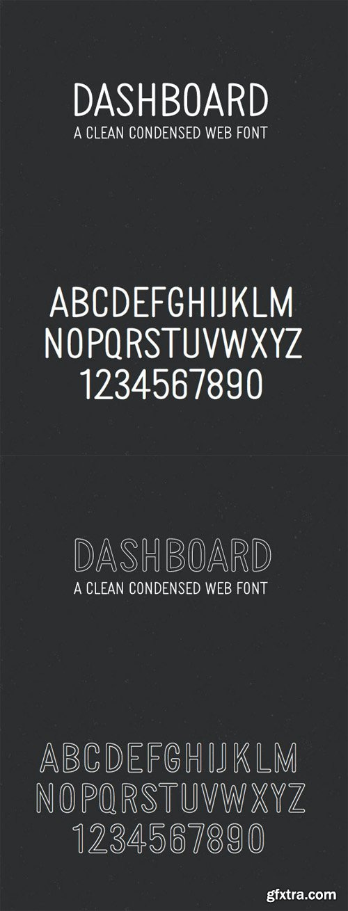 Dashboard – Clean Condensed Web Font