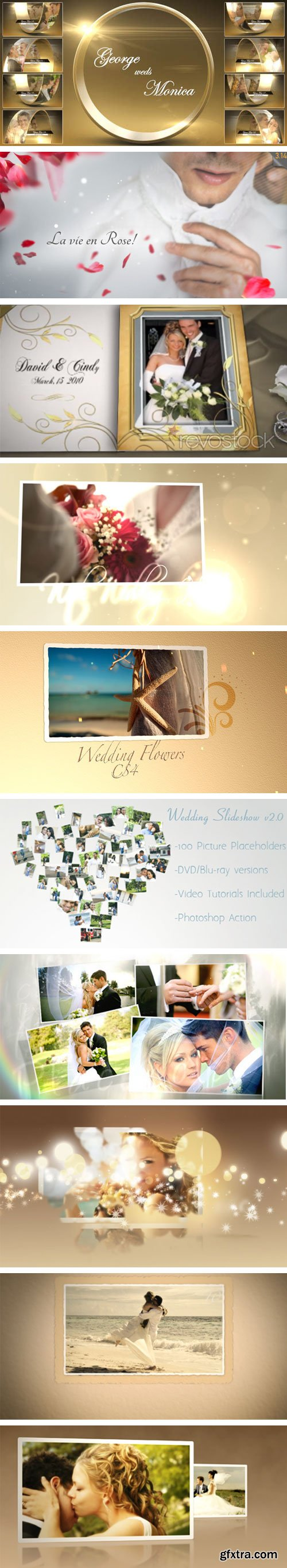 VideoHive - 10 Template Wedding Project After Effect Bundle